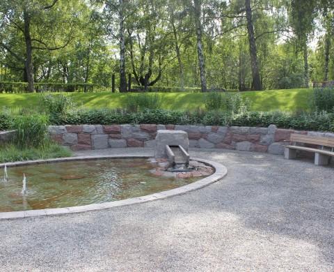 Mur, vattenränna & bassäng
