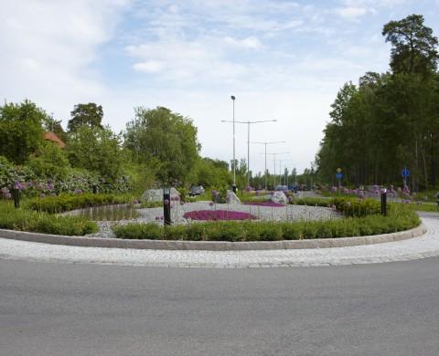 Blockstensmur & Gatsten i rondell